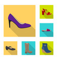 footwear and woman sign vector image vector image