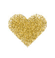 golden heart isolated on white vector image vector image