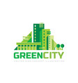 green city - concept logo template vector image