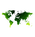 green waves world map background vector image vector image