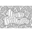 happy birthday greeting card 7 vector image vector image