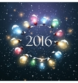 Happy New 2016 Year Christmas Lights vector image vector image