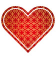 heart love rounded and rhombus style pattern vector image
