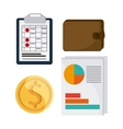 icon set Tax and Financial item graphic vector image vector image