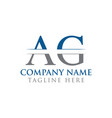 Initial ag letter logo with creative modern
