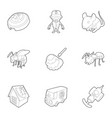 insect extermination icons set outline style vector image vector image