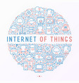 internet of things concept in circle vector image vector image