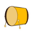 isolated bass drum sketch musical instrument vector image vector image