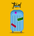 isolated travel bag icon travel concept vector image