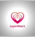 layer heart logo vector image vector image