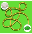 Layout for game labyrinth find a way sheep vector image vector image