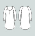 long sleeved dress vector image vector image