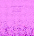 Magenta abstract pixel square mosaic background vector image vector image