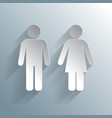 Male female wc icon vector image