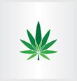 marijuana symbol icon design element cannabis logo vector image vector image