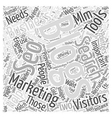 MLM Marketing and Recruiting Pointers Word Cloud vector image vector image