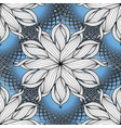 modern creative floral seamless pattern blue vector image