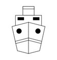 monochromatic ship vector image