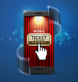 movie cinema ticket vector image