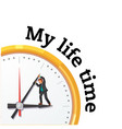 my life time man in clock background image vector image vector image