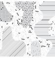 neutral light gray mempis design background vector image vector image