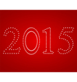 New Year 2015 on a red background vector image vector image