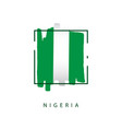nigeria brush logo template design vector image vector image
