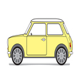 Old yellow mini vector image vector image