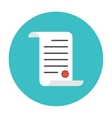 Paper scroll icon flat vector image