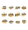 pastry and bread logotypes set vector image vector image
