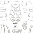 pattern beautiful realistic jelly assortement vector image
