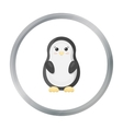 Penguin cartoon icon for web and vector image vector image