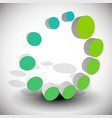 radial dotted circle abstract element generic icon vector image