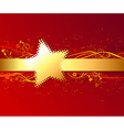 Red background with gold stripe vector image vector image