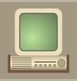 retro computer old classic antique vector image