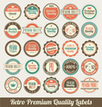 Retro Labels Set vector image vector image