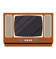 Retro tv technology design vector image vector image