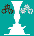rusty cogwheel brain vs new cogwheel brain vector image