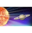 Scene with sun and planet vector image vector image
