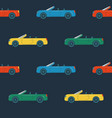 seamless pattern with cabriolet cars vector image vector image