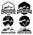 set of vintage labels mountain adventure vector image vector image