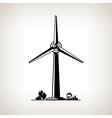 Silhouette Wind Turbine vector image vector image