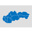 slovakia map - high detailed blue map with vector image vector image