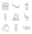 smell icons set outline style vector image vector image