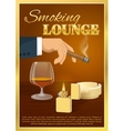 Smoking Lounge Poster vector image vector image