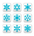 snowflake buttons set vector image