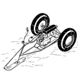 Snowmobile vector image