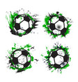 soccer or football sport balls grunge banners vector image