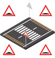 speed bump in 3d vector image
