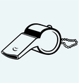 Sports whistle with pea vector image vector image
